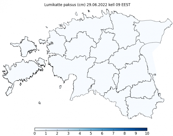Ilmateenistuse lumeolude kaart
